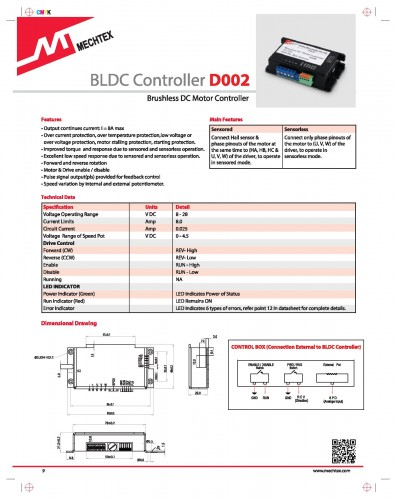 50W BLDC Out-Runner Motor (BO32) with Controller